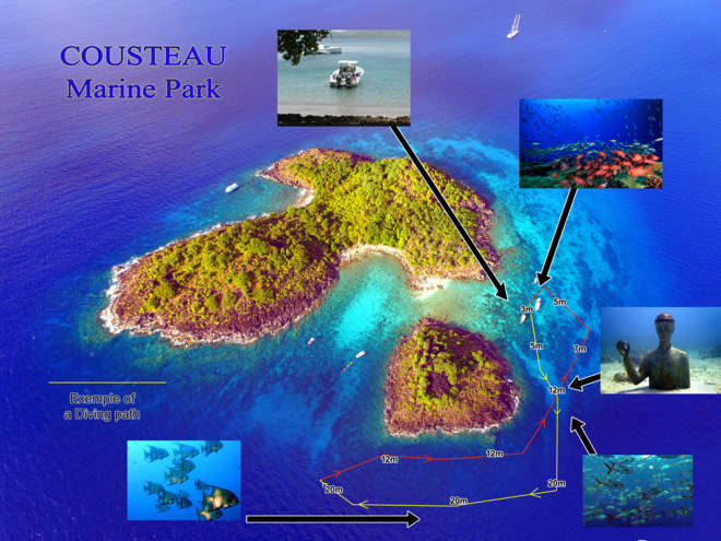 Pigeon Island on the Cousteau Marine Park