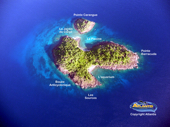 Pigeon Island in the Cousteau Marine Park