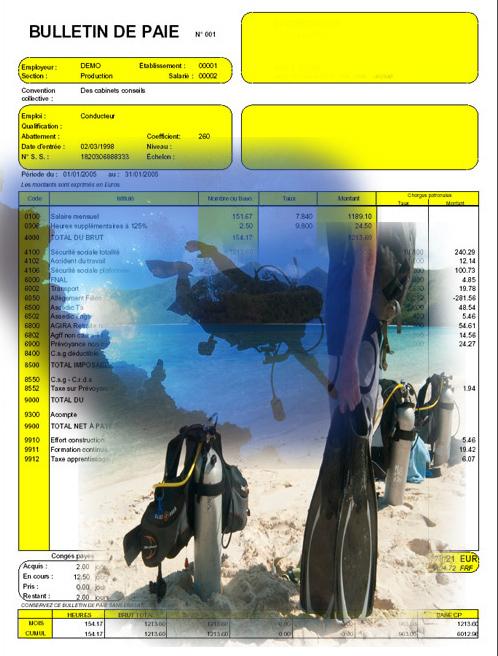 Salaire moniteur de plongée