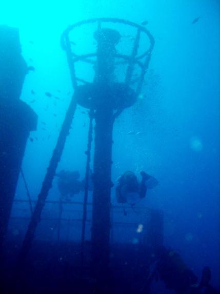 Plongée sur épave à Bouillante