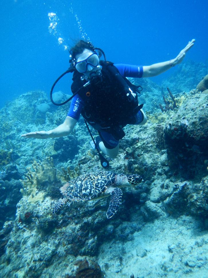 Madame plonge dans la Réserve Cousteau