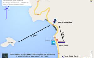 Plan accès Atlantis Plongée Guadeloupe
